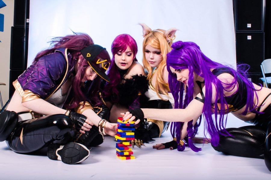 Hva skjer på cosplay-standen?